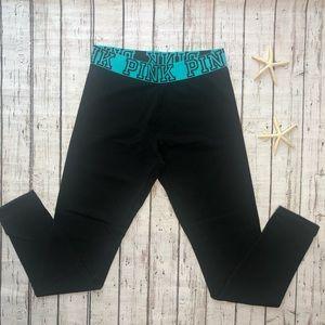 VS PINK Black High Rise Yoga Pants • Size Medium